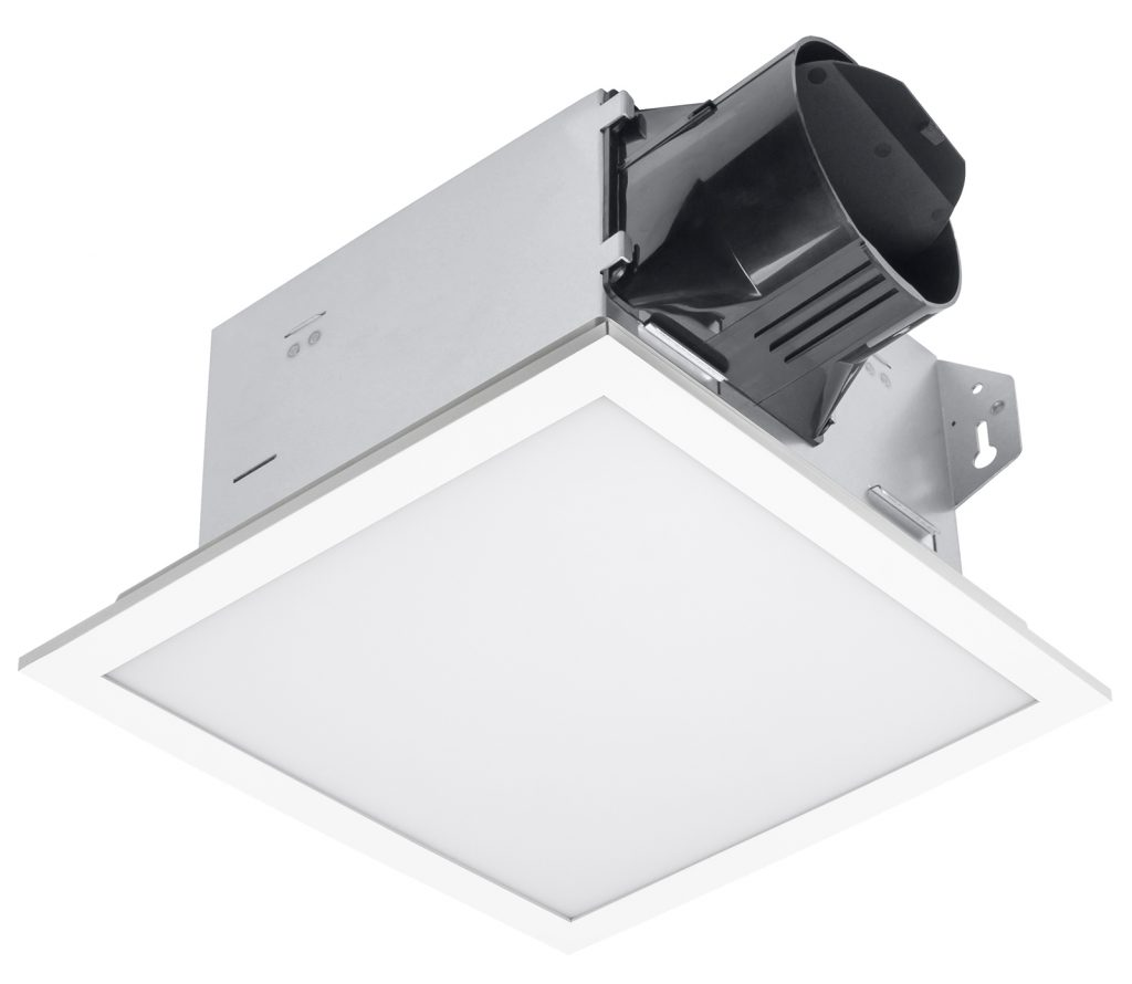 Exhaust fan features dimmable LED, quiet operation