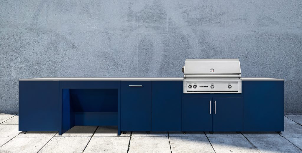 Blue Outdoor Kitchen System