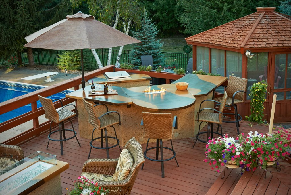 Custom Outdoor Kitchen Island