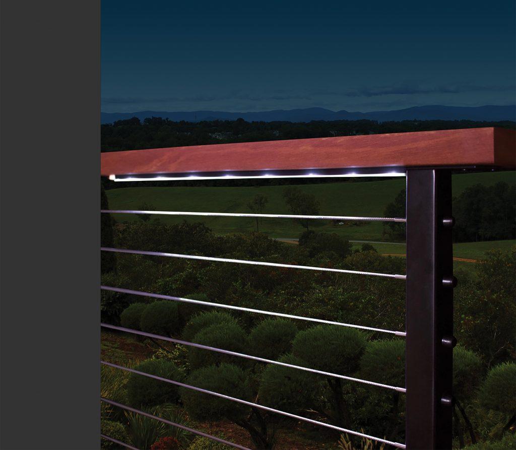 Light Bar Fits Under Flat Handrail Remodeling Industry