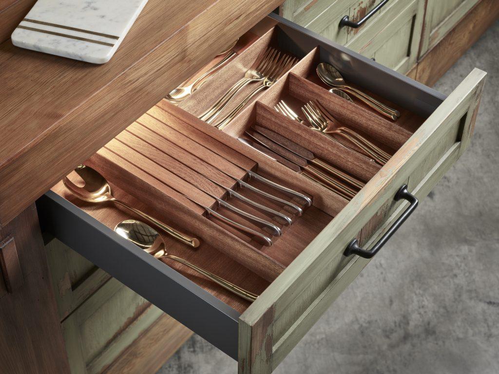 Wood Drawer Storage Options