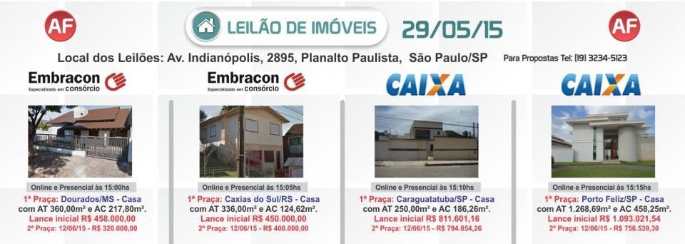 Leil�o de im�veis Embracon 29/05/15
