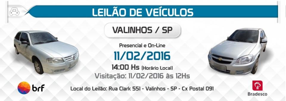Leil�o de Ve�culos Valinhos - 11/02/2016