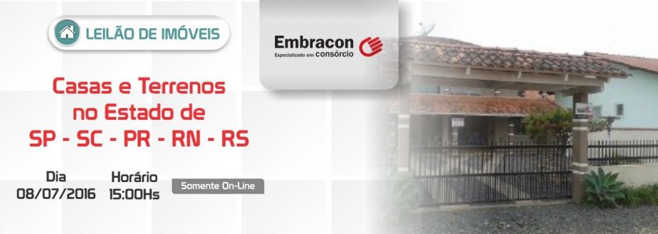 Leil�o de Im�veis Embracon - 08/07/2016