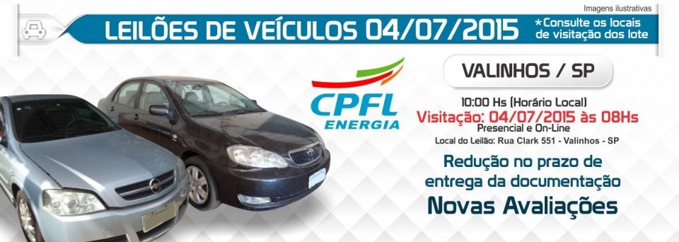 Leil�o de ve�culos CPFL 04/07
