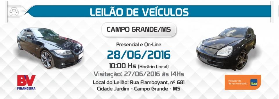 Leil�o de Ve�culos Campo Grande - 28/06/2016