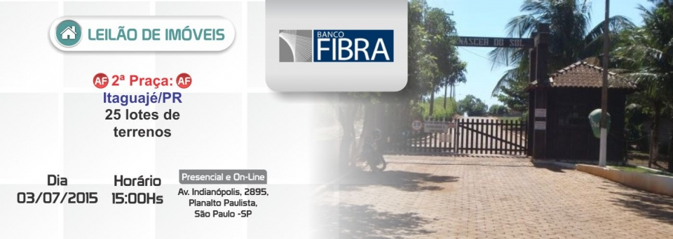 Leil�o imoveis Fibra 2� Pra�a - 03/07