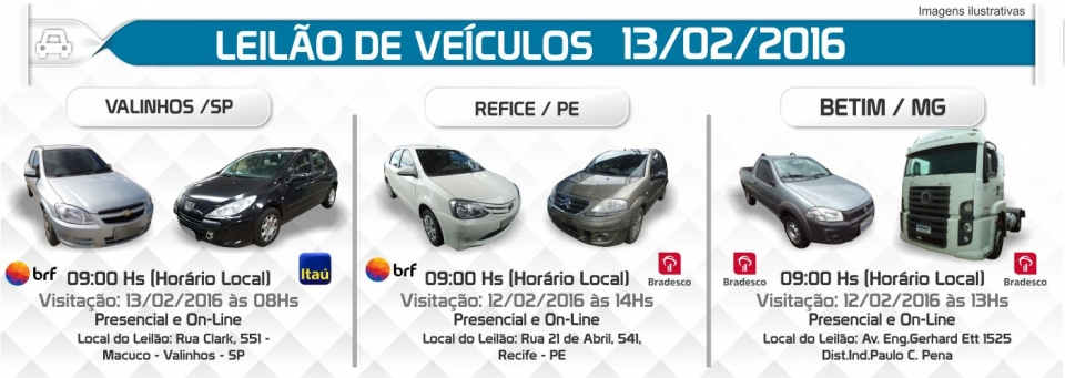 Leil�o de Ve�culos - 13/02/16