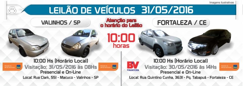 Leil�o de Ve�culos - 31/05/2016