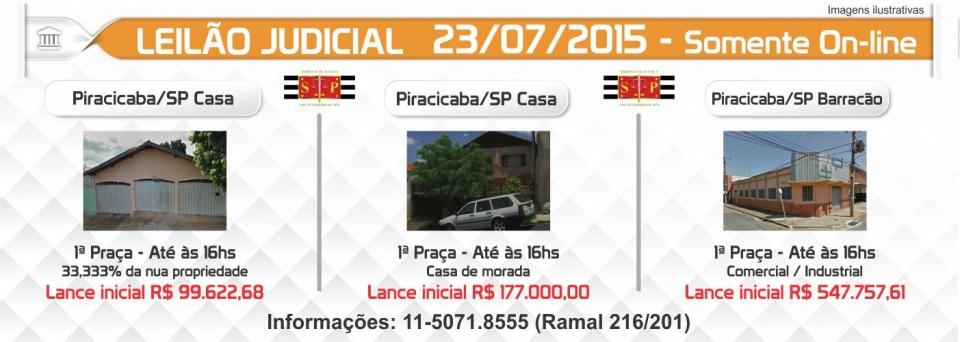 Leil�o Judicial 23/07/15