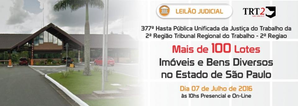 Leil�o Judicial TRT2 - 07/07/2016