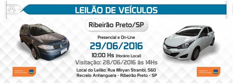 Leil�o de Ve�culos - Ribeir�o Preto/SP - 29/06/2016