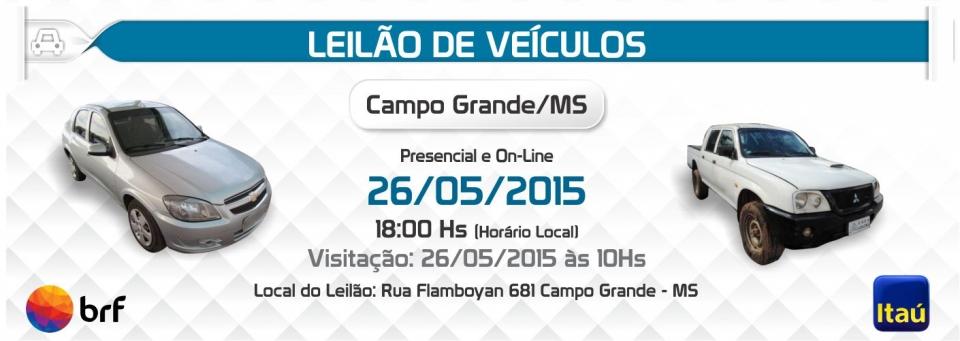Leil�o ve�culos Campo Grande - MS - 26/05