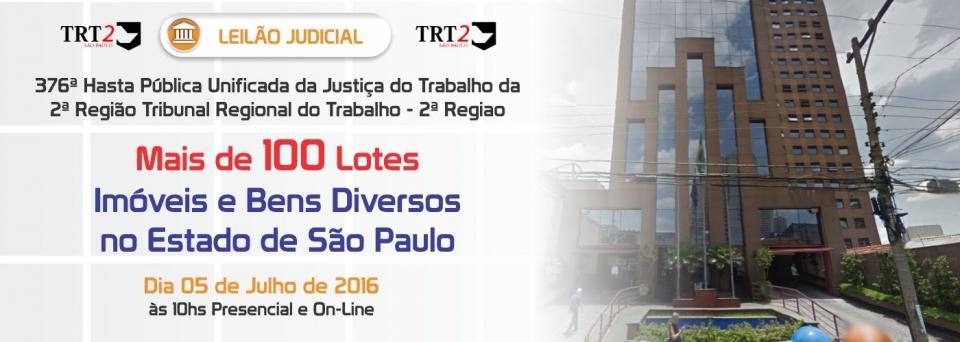Leil�o Judicial TRT2 - 05/07/2016