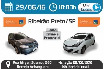 Leil�o de ve�culos em Ribeir�o Preto - SP 29/06/2016