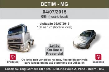 LEIL�O EM BETIM - BRADESCO E OUTROS - 04/07/2015