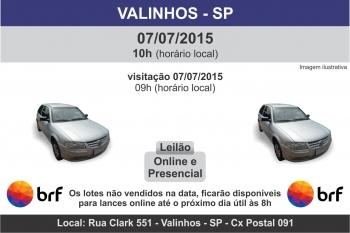 Leil�o de ve�culos BRF Valinhos - SP  07/07/2015