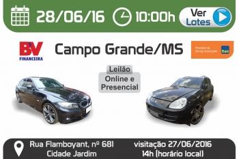 Leil�o de ve�culos em Campo Grande - MS 28/06/2016