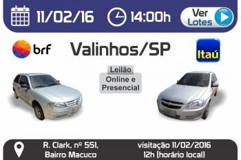 Leil�o de ve�culos em Valinhos - SP 11/02/2016