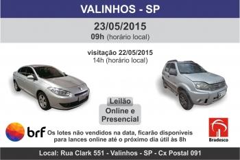 Leil�o de ve�culos em Valinhos - SP 23/05/2015