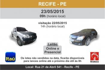 Leil�o de ve�culos em Recife - PE 23/05/15