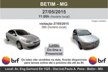 Leil�o de ve�culos BRF Betim - MG - 27/05/2015
