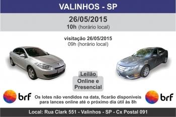 leil�o de ve�culos em Valinhos - SP 26/05/15