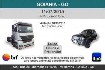 Leil�o de ve�culos em Goi�nia - GO 11/07/2015