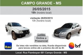 Leil�o de ve�culos em Campo Grande - MS 26/05/15