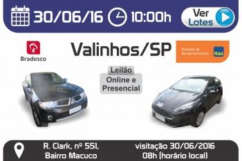 Leil�o de Ve�culos em Valinhos - SP 30/06/2016