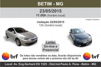 Leil�o de ve�culos BRF Betim - MG  - 23/05/2015