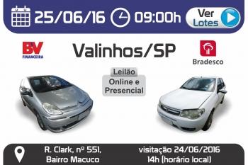 Leil�o de Ve�culos em Valinhos - SP 25/06/2016
