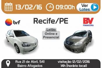 Leil�o de ve�culos em Recife - PE 13/02/2016