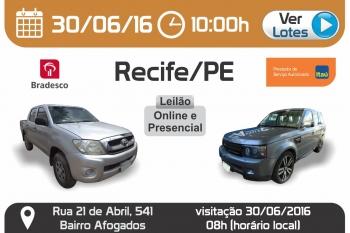 Leil�o de ve�culos em Recife -  PE 30/06/2016