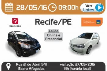 Leil�o de ve�culos em Recife -  PE 28/05/2016