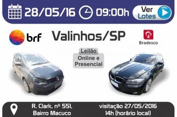 Leil�o de ve�culos em Valinhos - SP 28/05/2016
