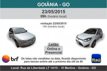 Leil�o de ve�culos em Goi�nia - GO 23/05/15