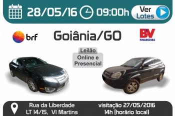 Leil�o de ve�culos em Goi�nia - GO 28/05/2016