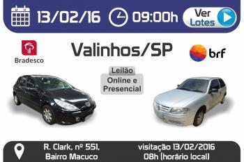 Leil�o de ve�culos em Valinhos - SP 13/02/2016