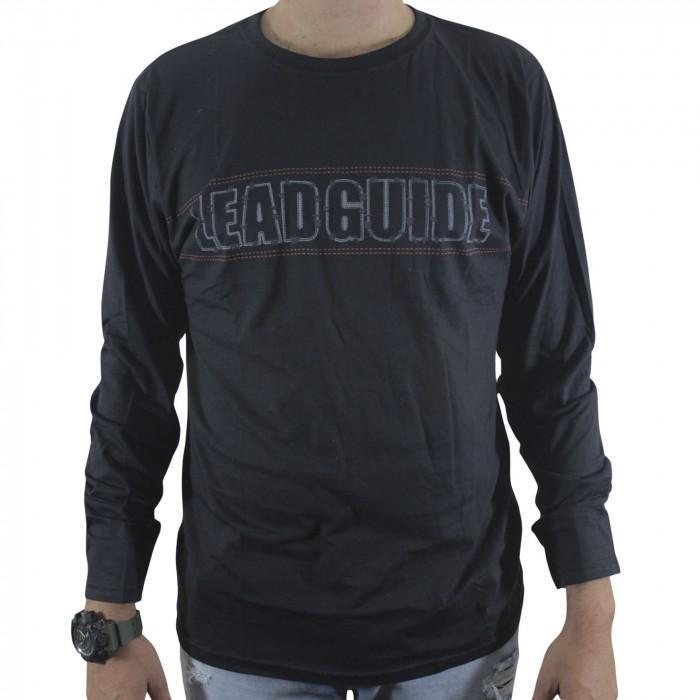 camiseta m/m manga longa p/gg / preto