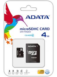 Adata MicroSD 4GB Class 4 - New