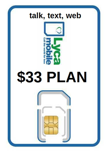Lyca Triple SIM card with $33 plan included