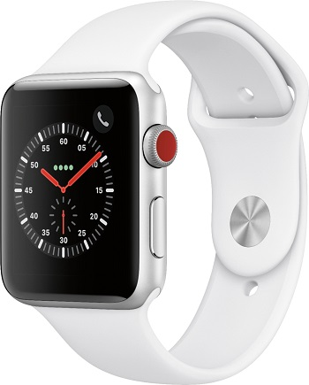 Apple Watch Series 3 GPS + Cellular (42mm) Silver/White A Stock