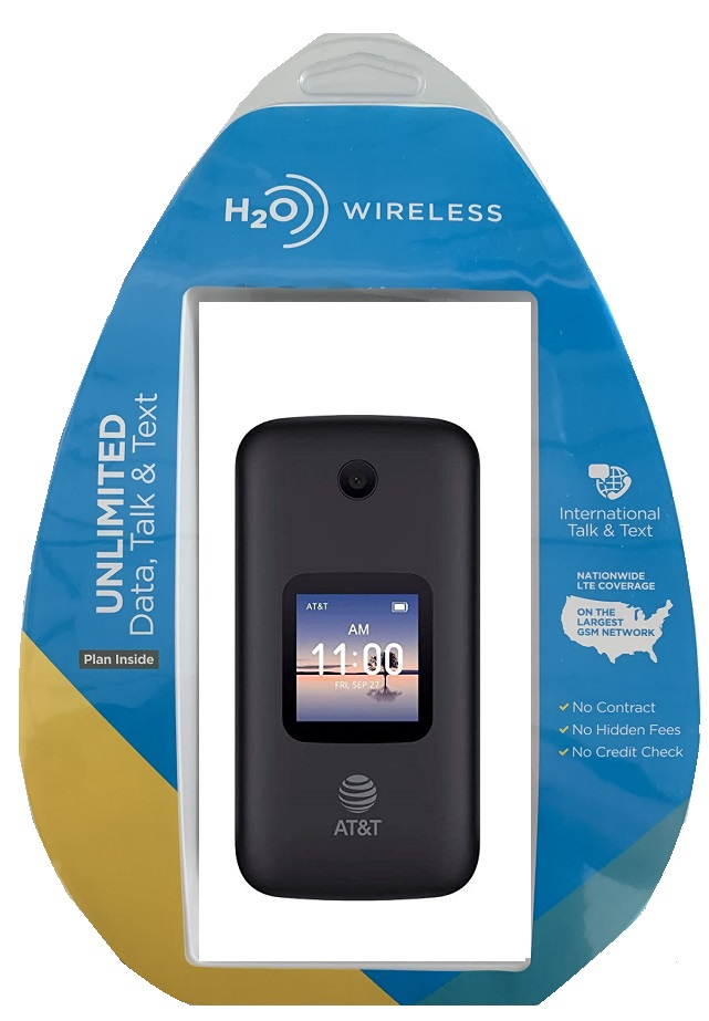 H2O Alcatel 4052r w/ H2O $20 Plan included Black