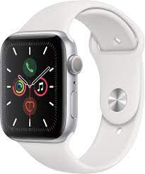 Apple Watch Series 5 GPS + Cellular (44mm) Silver/White  A Stock
