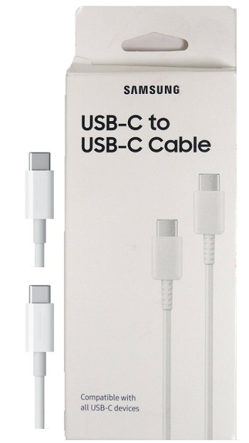 Samsung OEM Type-C to Type-C USB Cable White - Retail Package