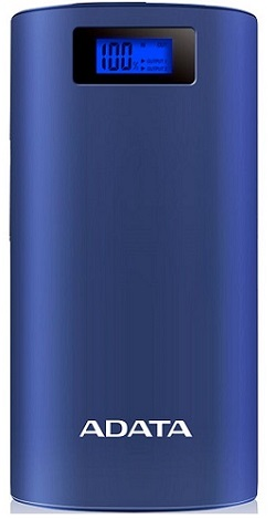 Adata P20000D Portable Power Bank Blue - New