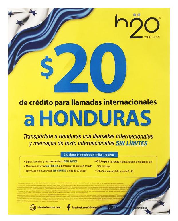 H2O Poster Honduras - $20 Plan