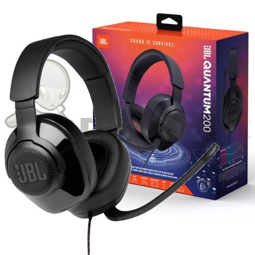 JBL Quantum 200 | Wired Gaming Headset Black