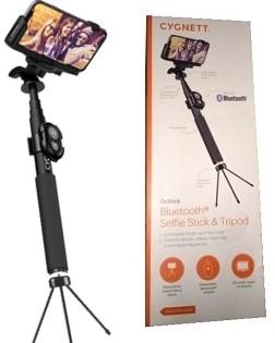 Cygnett Selfie Snap Aluminium Selfie Stick w/ Bluetooth & Tripod